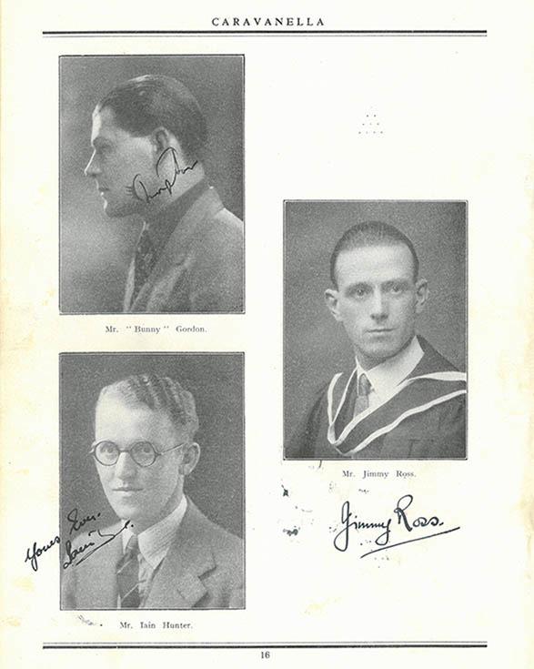 Jimmy Ross, Iain Hunter and Bunny Gordon