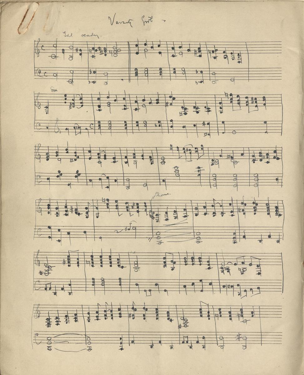 Varsity Girl musical score