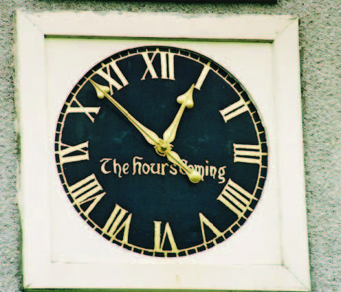 Crimond church clock