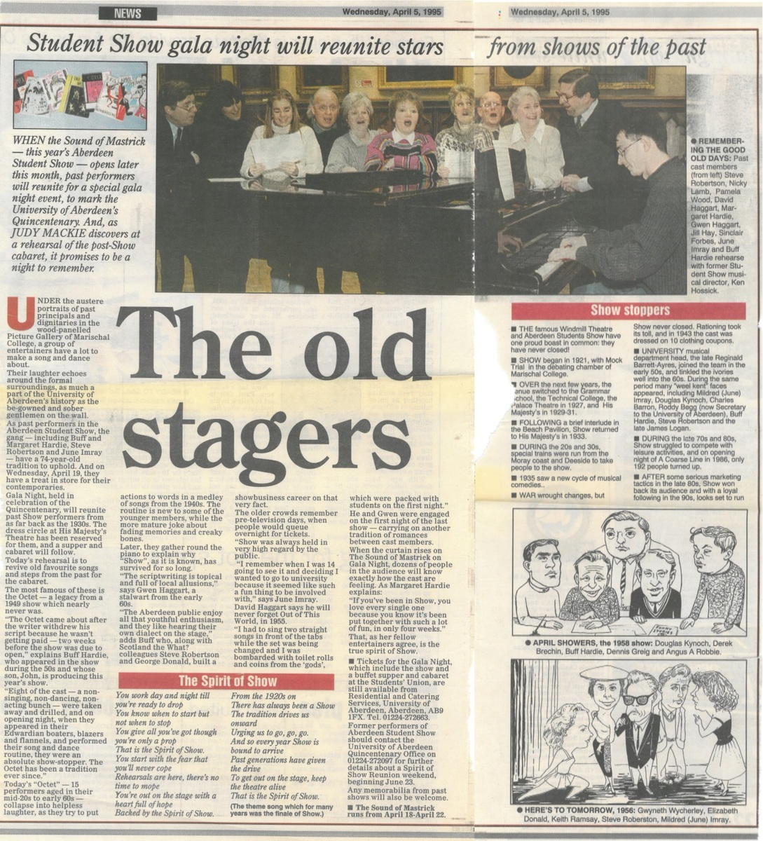 The Old Stagers news clipping