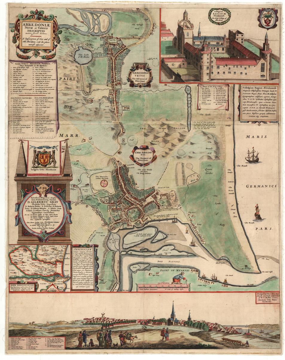 Parson Gordon map of Aberdeen