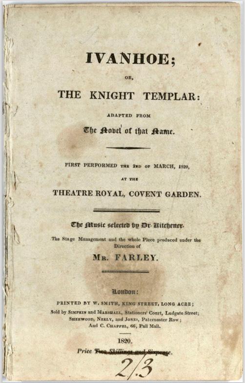 Ivanhoe; or, The Knight Templar