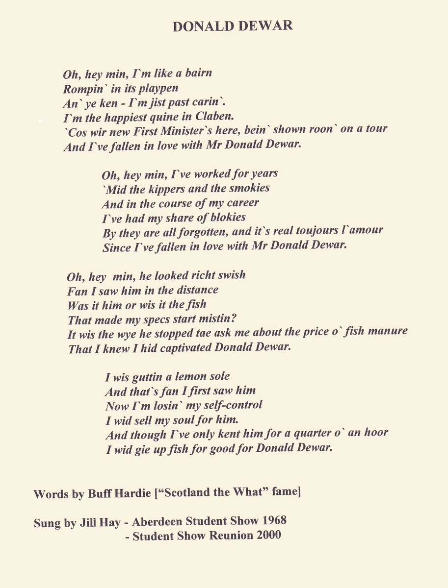 Mr Dewar song lyrics
