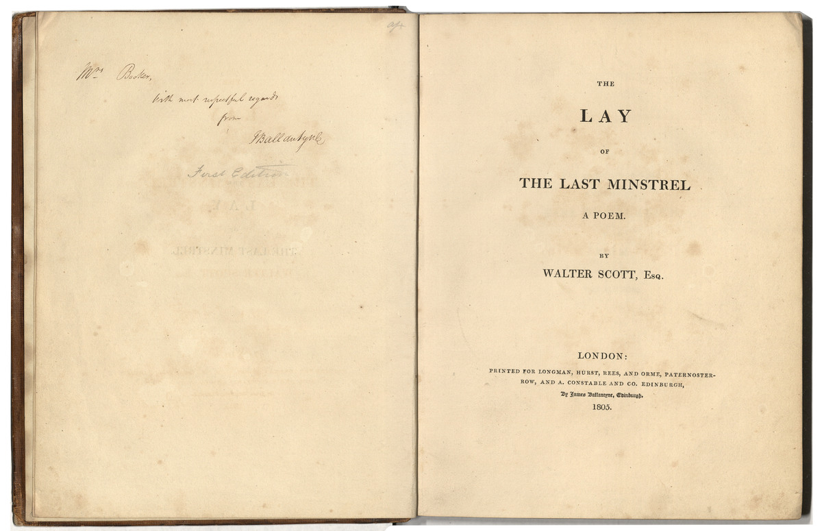 The Lay of the Last Minstrel : a poem