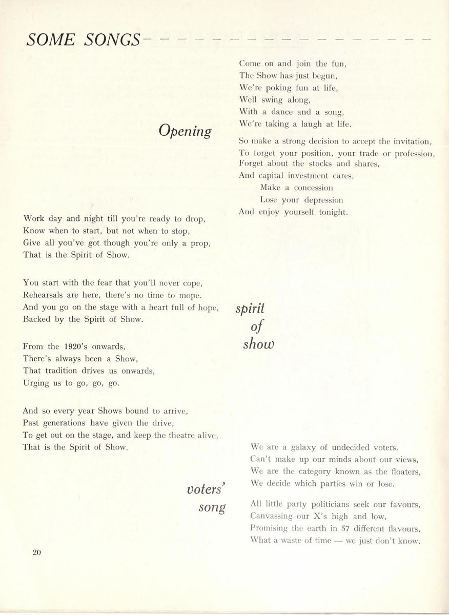Spirit of Show lyrics
