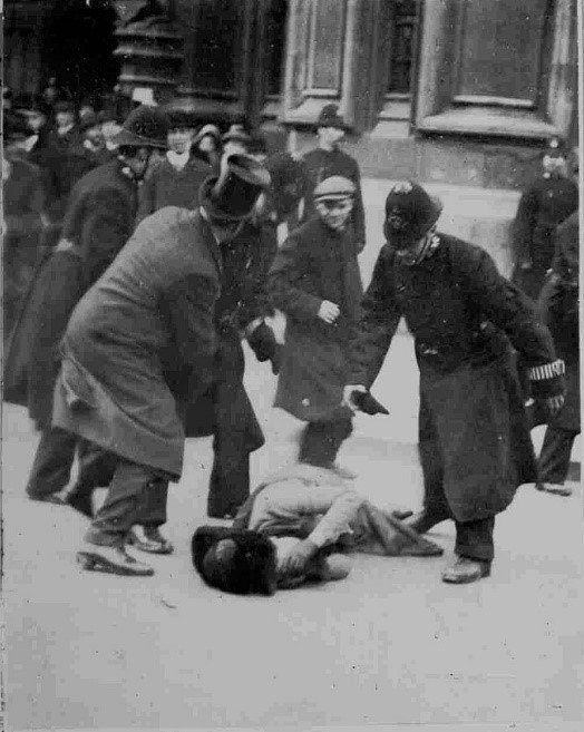 1910 Black Friday protest photograph