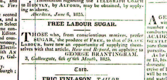 Aberdeen anti-slavery society cutting
