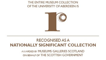 The entire museum collection of the University of Aberdeen is recognised as a nationally significant collection. Awarded by Museums Galleries Scotland on behalf of The Scottish Government.