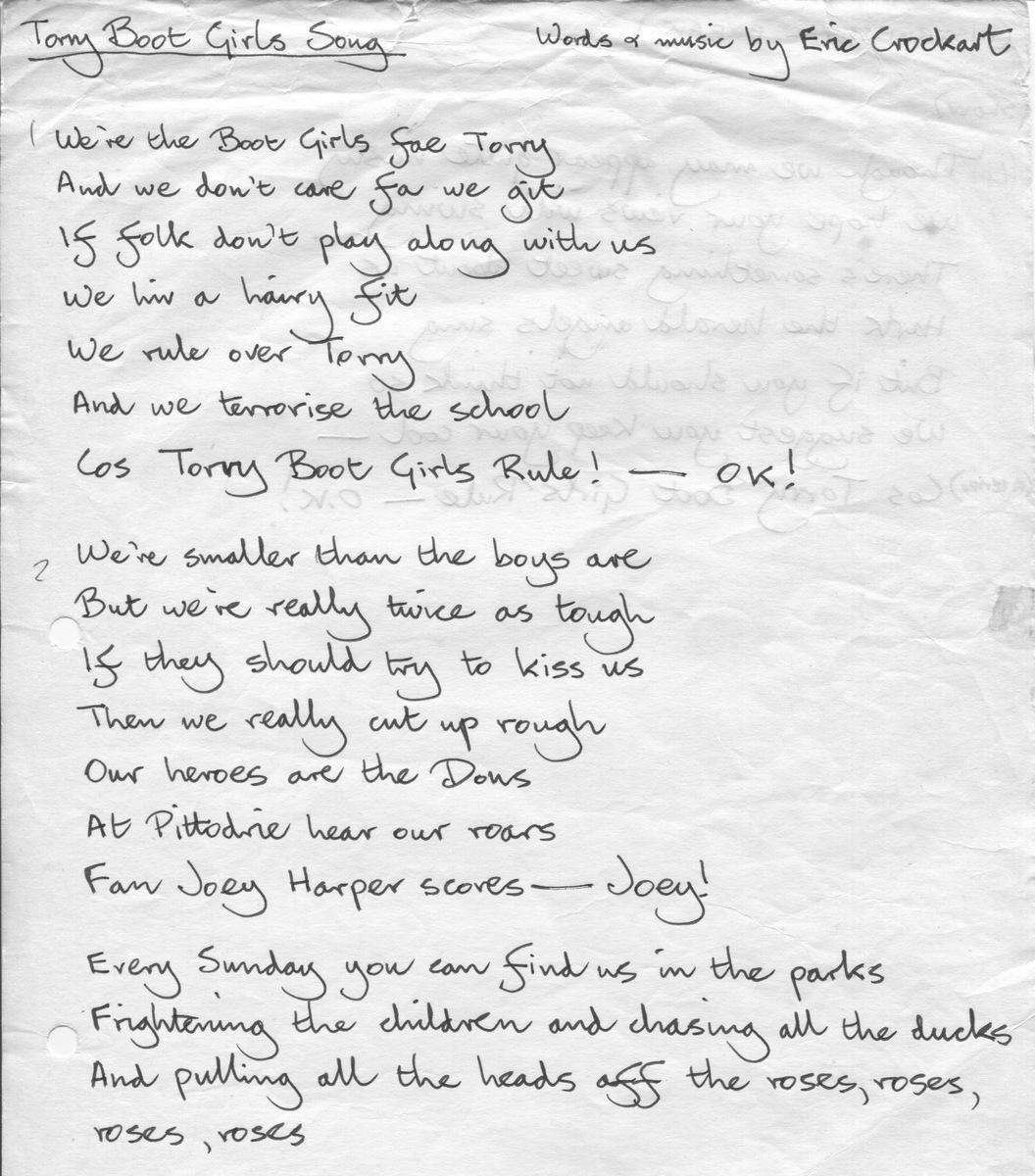 Torry Boot Girls lyrics