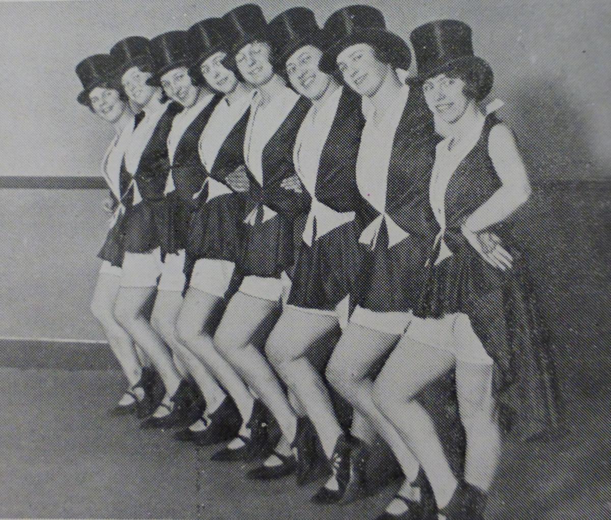 Northern Lights, 1929, chorus girls
