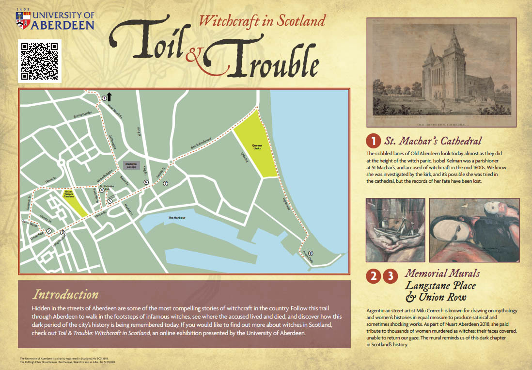 Witch trail map