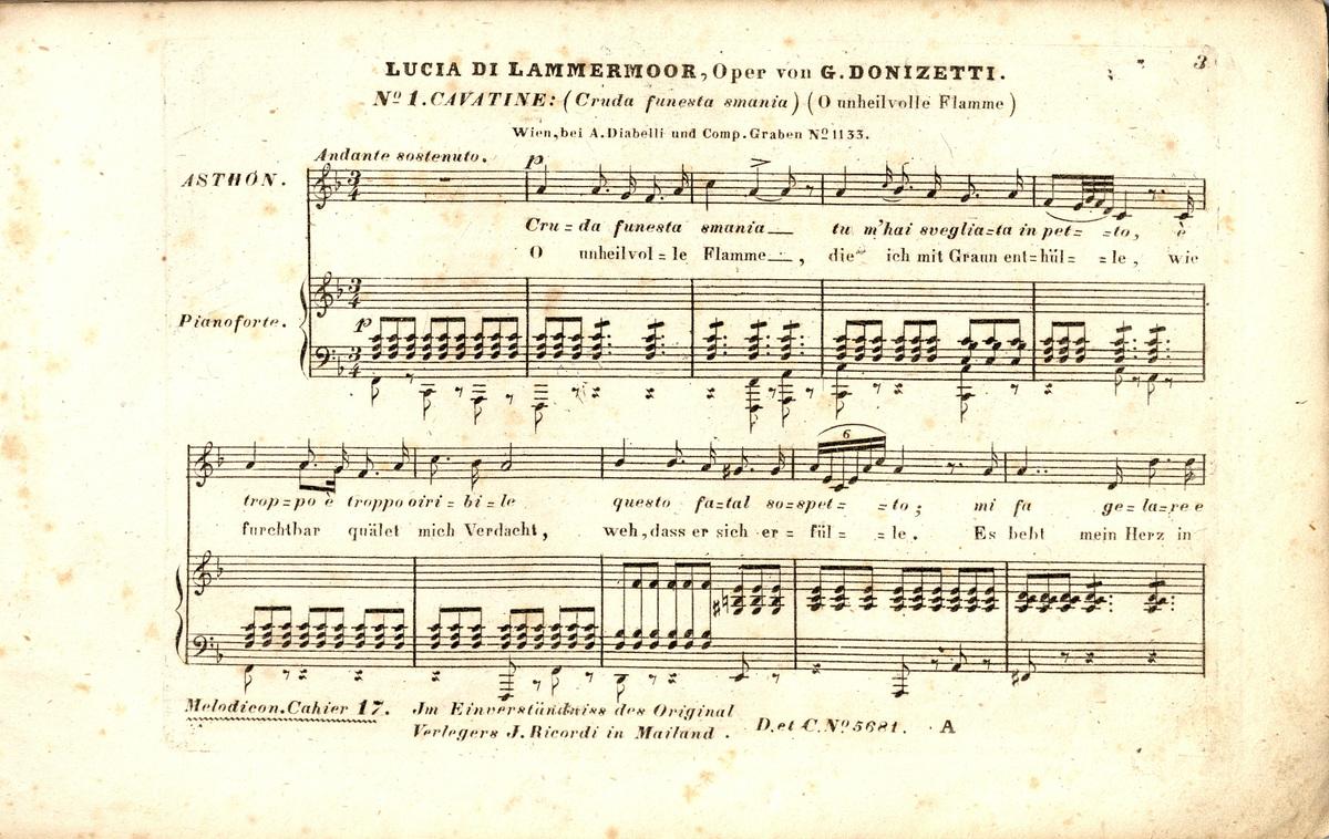 Lucia di Lammermoor : opera