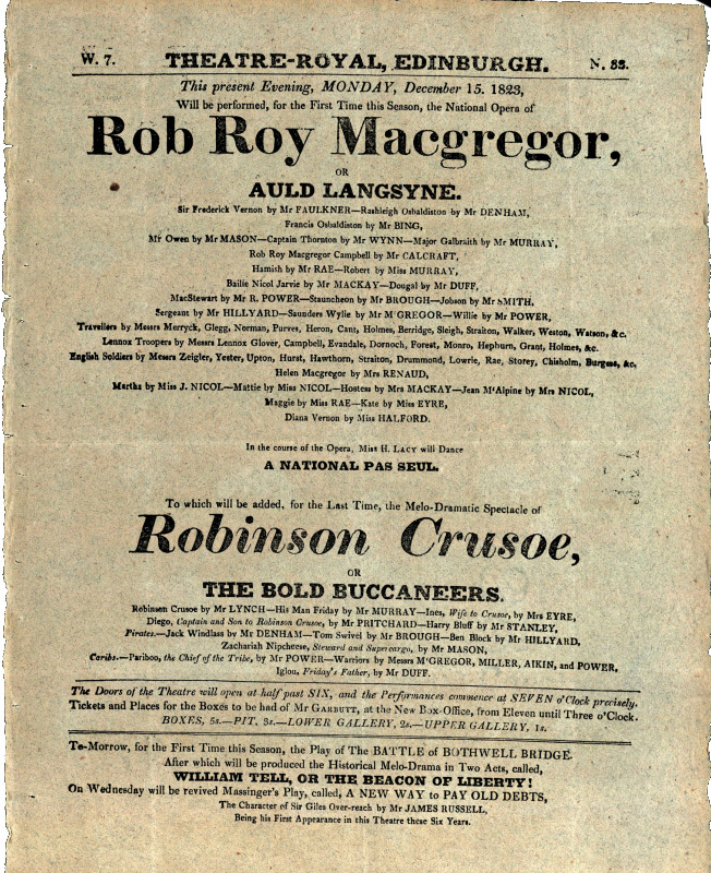 Rob Roy Macgregor or Auld Lang Syne