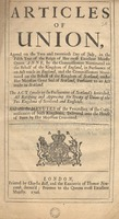 Articles of the Treaty of Union agreed on by the Commissioners of both Kingdoms, 22 July 1706